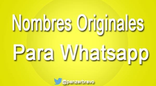 Nombres originales para grupos de whatsapp